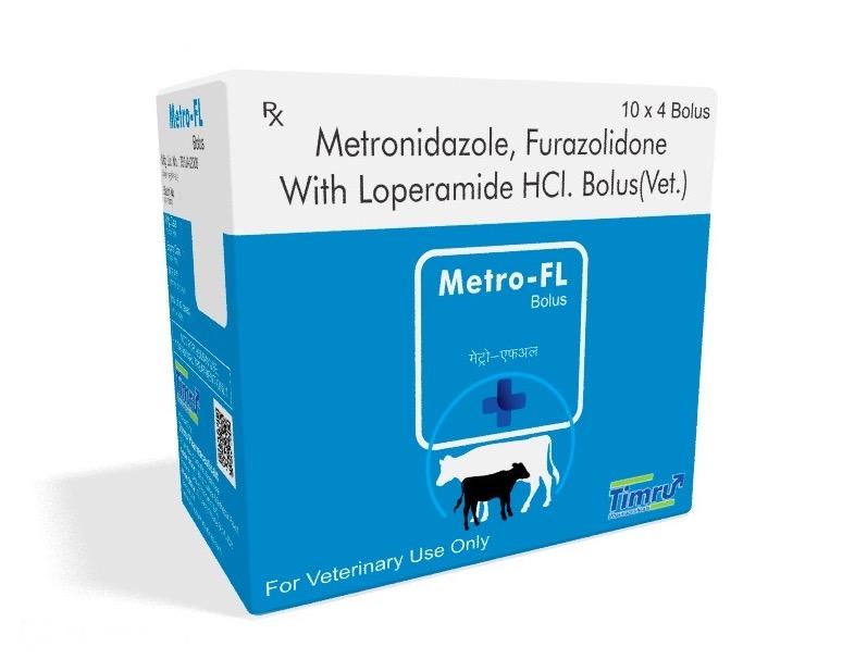 Veterinary Metronidazole, Furazolidone & Loperamide Bolus