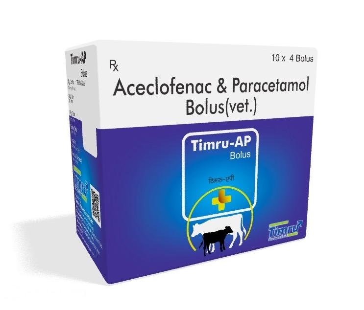 Veterinary Aceclofenac & Paracetamol Bolus
