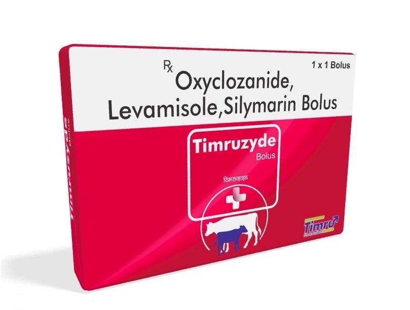 Veterinary Oxyclozanide, Levamisole & Silymarin Bolus