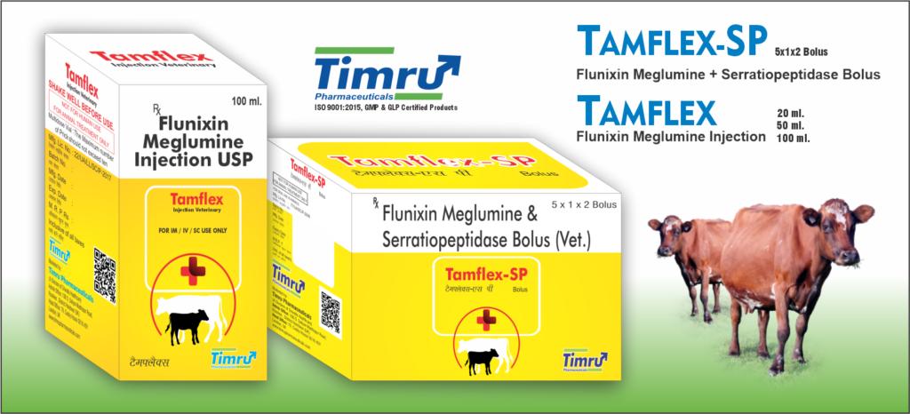 Flunixin Meglumine & Serratiopeptidase Veterinary Bolus